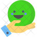 Happiness Smile Green Icon