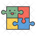 Happiness Smile Puzzle Icon