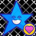 Star Face Smile Icon