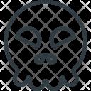 Happy Skull Emot Icon