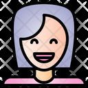 Happy Feeling Face Icon