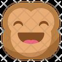 Happy Laugh Monkey Icon