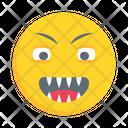 Happy Emoticon Grimacing Icon
