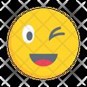 Happy Smiling Winking Icon