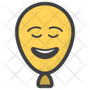 Happy Balloon Face Balloon Face Emoticon Icon