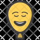 Happy Balloon Face Balloon Face Emoticon Icon
