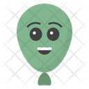 Happy Balloon Face Icon