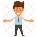 Happy Businessman Icon