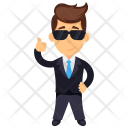 Happy Businessman Icon
