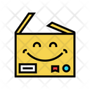 Happy Carboard Carbdoard Happy Icon