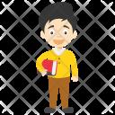Happy Cartoon Boy Icon