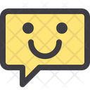 Happy Chat Bubble Chat Communication Icon