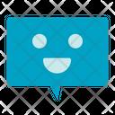 Happy Chat Smile Happy Message Icon
