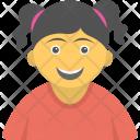 Happy Child Girl Icon