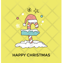 Candy Cane Signpost Icon