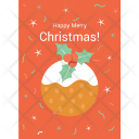 Christmas Postcard Inscription Icon