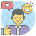 Happy Client Happy Employee Happy Customer Icon