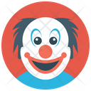 Happy Clown Whiteface Circus Joker Icon