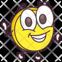 Happy Coin Emoji Icon