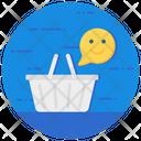 Happy Customer Shopping Basket Shopping Satisfaction Icon