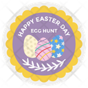 Happy Easter Badge Easter Emblem Easter Logo Icon