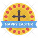 Easter Badge Easter Sticker Easter Wishes Icon