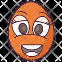 Edible Happy Egg Egg Shell Icon