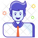 Happy Employee Satisfied Employee Male Employee Icon