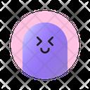 Happy Expression With Closed Eyes Emoji Emoticon Icon