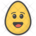 Happy Face Egg Emoji Emoticon Icon