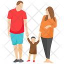 Happy Family Family Family Outing Icon