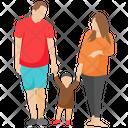 Happy Family Family Family Outing Icon