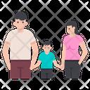 Happy Family Family Members Parentage Icon