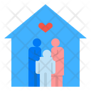 Happy Family Home Mother Icon