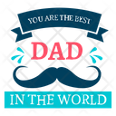 Happy Fathers Day Fathers Day Logo Fathers Day Badge Icon