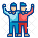Happy Friends Friend Together Icon