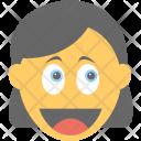 Happy Surprised Emoticon Icon