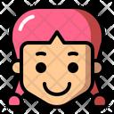 Happy Girl Girl Kid Icon