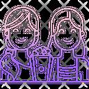 Happy Girls Little Girls Cute Girls Icon