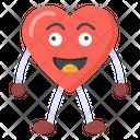 Cartoon Heart Happy Heart Heart Emoji Icon