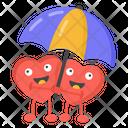 Hearts Couple Heart Lovers Happy Heart Lovers Icon
