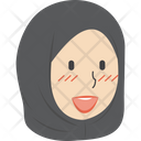 Happy Hijab Girl Icon