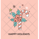 Happy Holiday Candy Icon