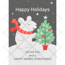 Happy Holiday Greeting Icon