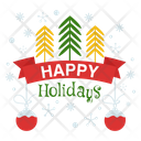 Happy Holidays Happy Holidays Logo Happy Holidays Badge Icon