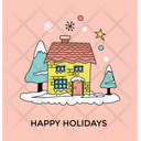 Happy Holiday Christmas Icon