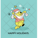Happy Holiday Postcard Icon