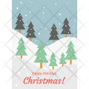 Christmas Postcard Happy Icon