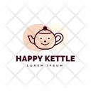 Happy Kettle Kettel Logo Kettle Logomark Icon