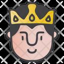 Happy King Icon